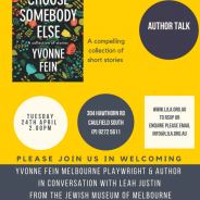 Author Talk: Choose somebody else