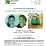 Echoes of  Voices from Melbourne Jewish Community