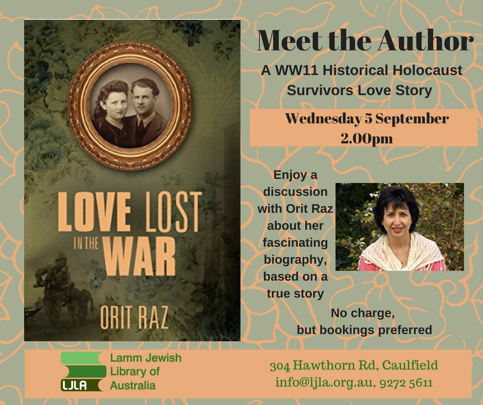 Meet the Author: Love lost in the war / Orit Raz