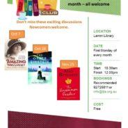 Book Club: upcoming meetings