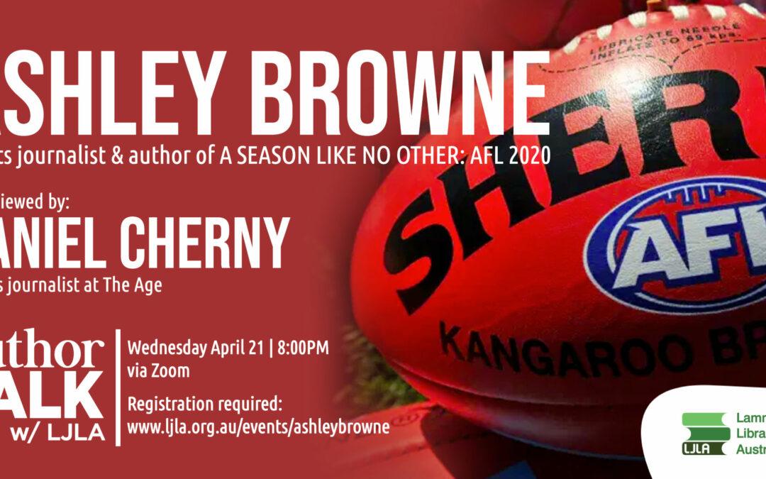 AuthorTalk: Ashley Browne